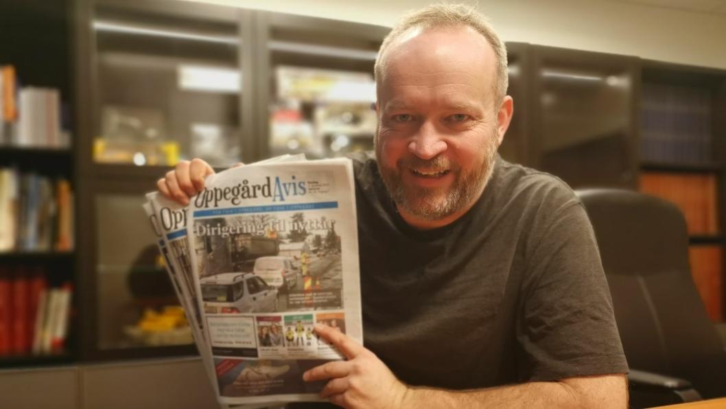FORTSATT LOKALT: Redaktør Sigbjørn Vedeld lover at Oppegård Avis skal fortsette å være en lokalavis, og at avisen skal dekke de samme områdene som før.