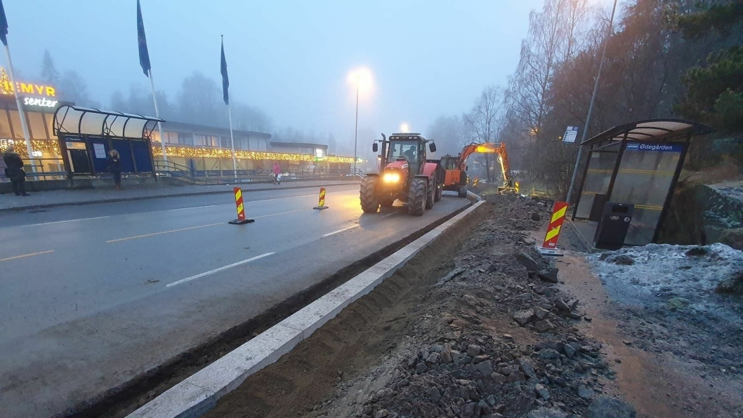 SØNSTERUDVEIEN: Arbeidene på den sørlige siden av Sønsterudveien vil mest sannsynlig starte opp igjen 6. januar dersom været tillater dette.