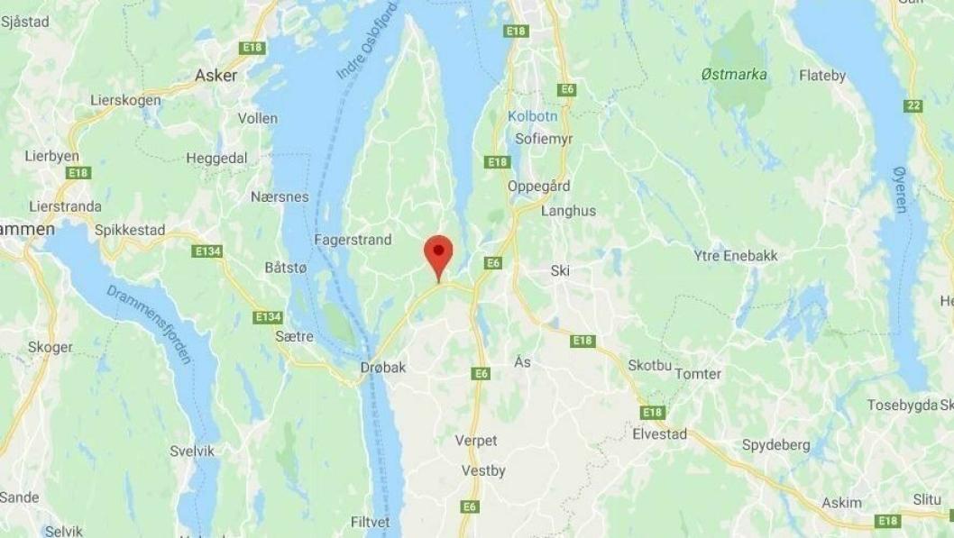 ENESTE DØDSULYKKE I DISTRIKTET: Én person omkom etter en frontkollisjon i Frogntunnelen ved Drøbak.