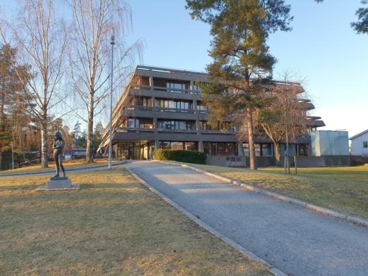 IKKE BETJENT: Det er ikke lenger betjent i Oppegård rådhus etter at Oppegård og Ski kommuner ble slått sammen 1. januar 2020.