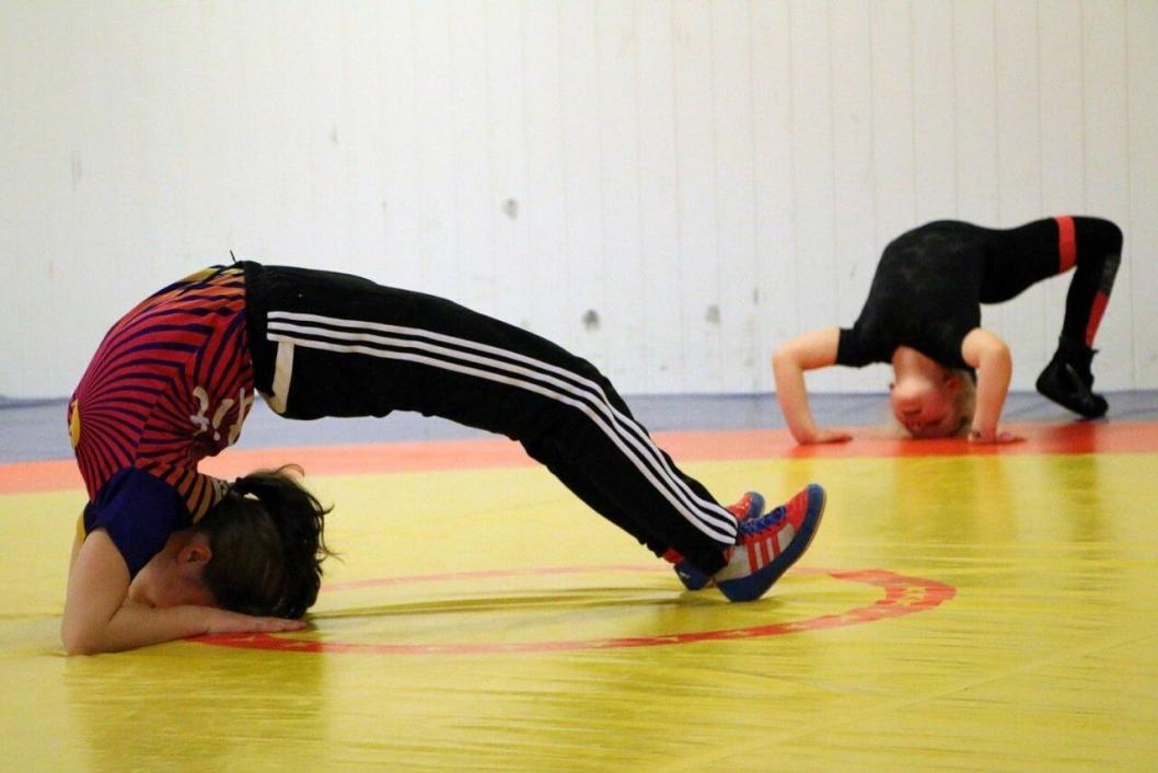 AKROBATIKK OG STYRKE: I bryting er det mye fokus på akrobatikk, altså basis turnferdigheter, og styrke.