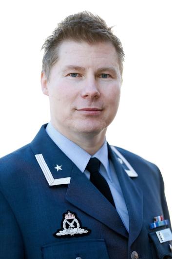 FORKLARER: Major Stian Roen er talsperson i Luftforsvaret.