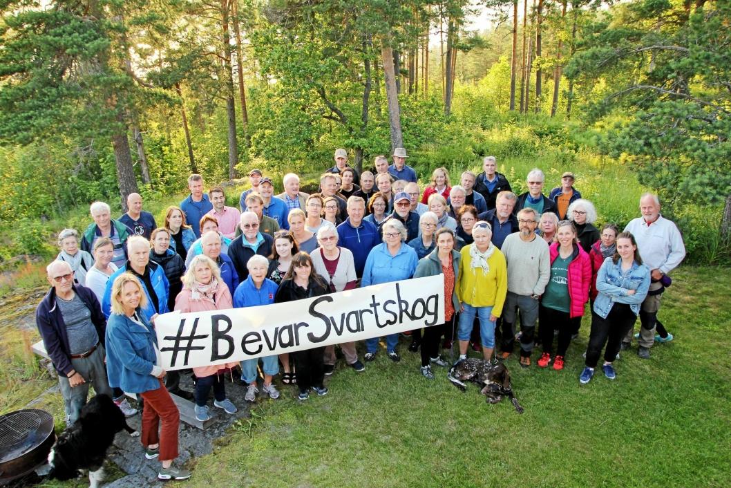 PROTESTERTE: Facebook-gruppen Bevar Svartskog ble etablert i fjor sommer som en protest mot planene om utbygging.