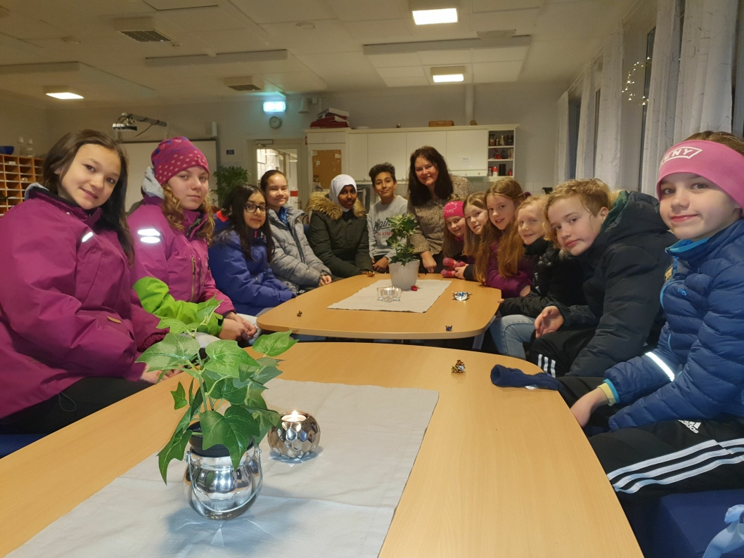 ENGASJERTE BARN: Det var mye enasjement da Oppegård Avis snakket med elevene om mobbing og trivselen på skolen.