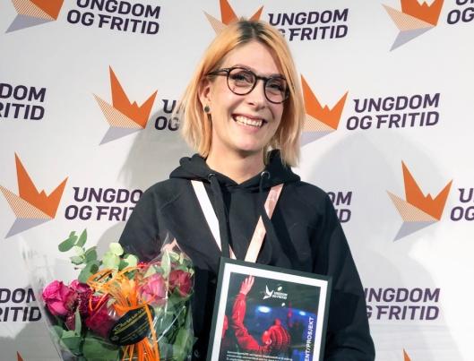 BLE KÅRET TIL ÅRETS PROSJEKT: På bildet kan du se Linn Hattvang, daglig leder på Hjørnet Ungdomskafé på Kolbotn.