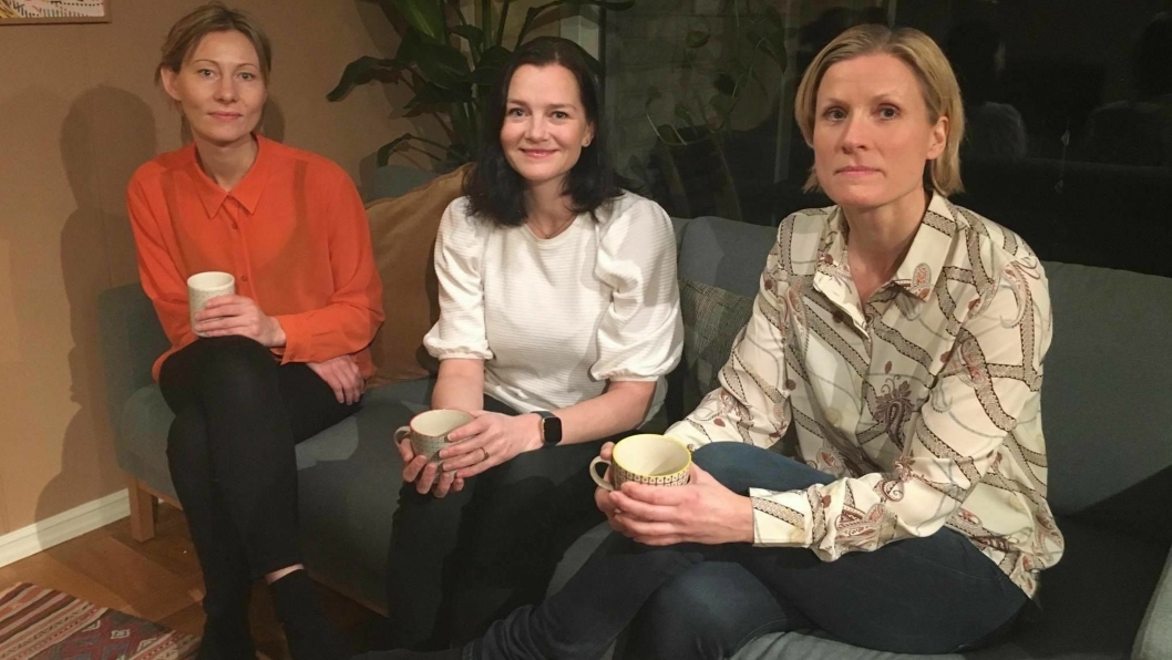 INITIATIVTAKERNE: Siri Wålberg, Tonje Raknes og Kjersti Horgen-Rihel startet et innbyggerinitiativ for en ny barneskole på Sofiemyr.