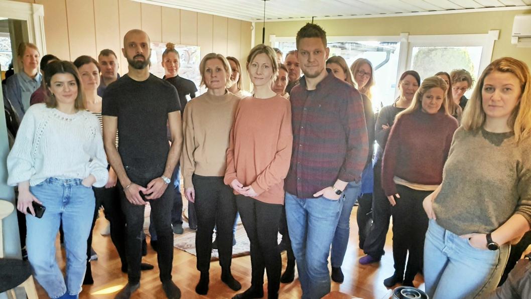 """LOKALT ENGASJEMENT: Rundt 50 foresatte møtte opp på det første informasjonsmøtet til aksjonsgruppen """"Ny Sofiemyr skole nå""""."""