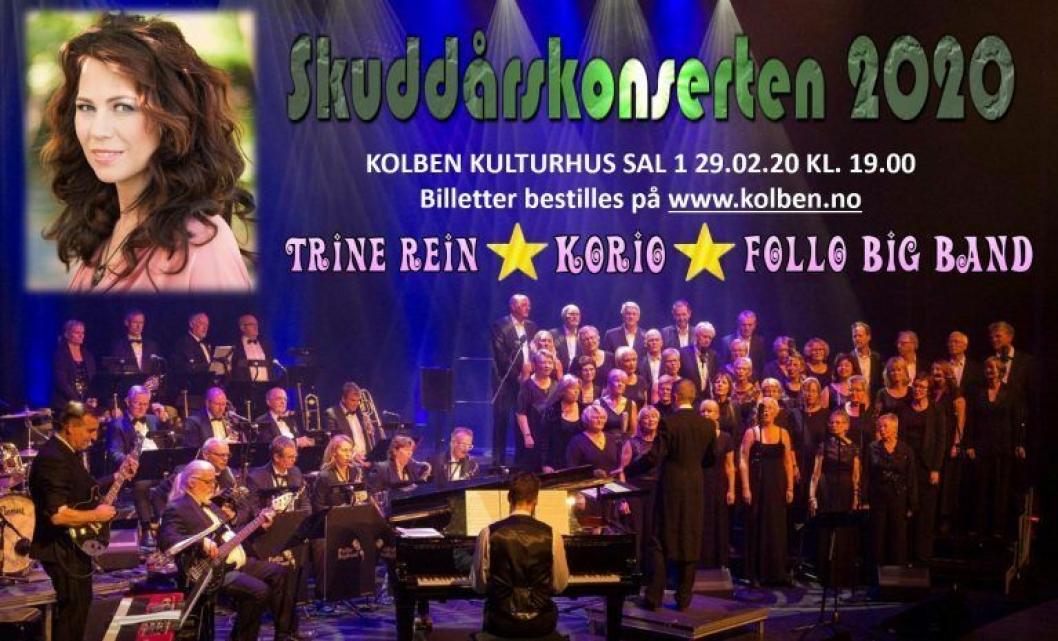 SKUDDÅRSKONSERT: KoriO, Follo Big Band og selveste Trine Rein skal synge sanger fra filmlerretet.