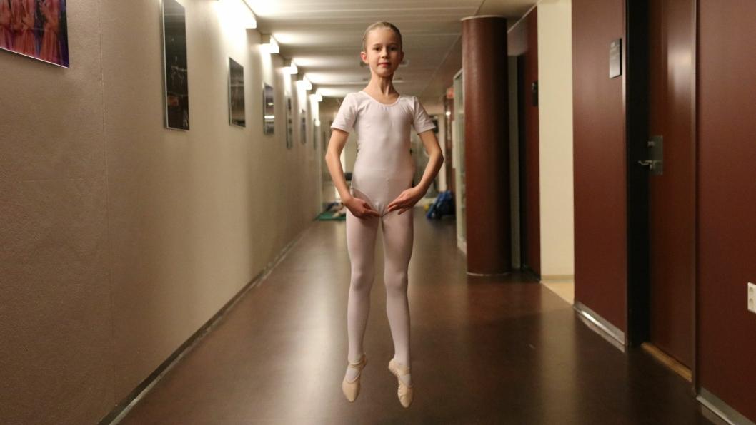 FIKK PLASS PÅ BALLETTSKOLEN: Maya Haaversen måtte gå gjennom audition og flere danse- og opptaksprøver i fjor høst.