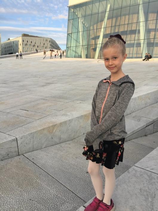 RETT FØR AUDITION: Maya Haaversen ved Den Norske Opera & Ballett rett før audition i september i fjor.