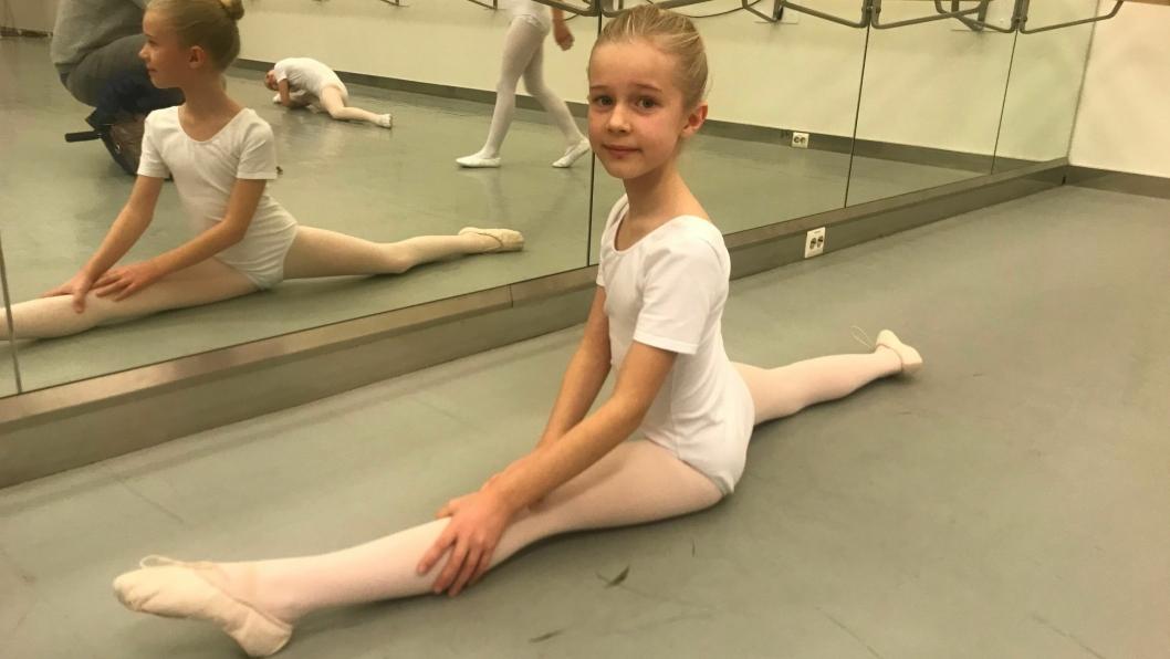 FIKK PLASS PÅ BALLETTSKOLEN: <em>– </em>Det var veldig gøy å være på audition, sier Maya Haaversen. I fjor høst måtte hun gå gjennom audition og flere danse- og opptaksprøver for å komme inn på Ballettskolen i Oslo.