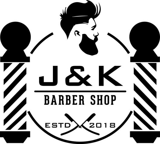 LOGO: Den aller første J&K Barber Shop ble åpnet av Alan og Jana Hansen for to år siden.