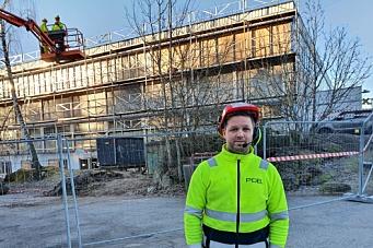 Næringseiendommen på Sofiemyr får nye fasader