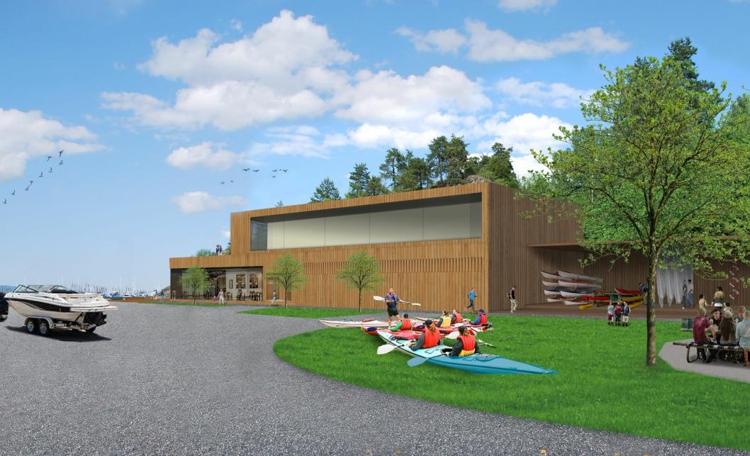AKTIVITET: Det nye fjordsenteret er tiltenkt å huse flere typer aktiviteter, samt serveringsted og klubblokaler, og skal være åpnet for alle.