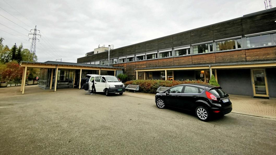 INGEN BESØK: Greverud sykehjem er en av institusjone som fra søndag har forbud mot besøk.
