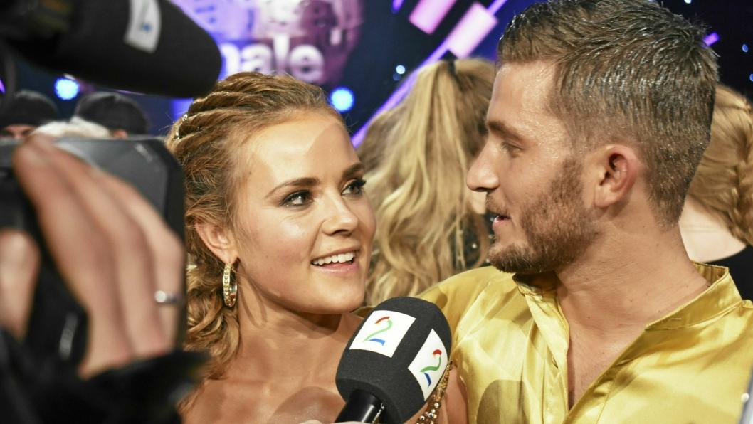 """STARTEN: Helene Olafsen og Jørgen Nilsen vant """"Skal vi danse"""" i 2017, og ble etter dette et par. Nå er de blitt foreldre til en liten gutt."""