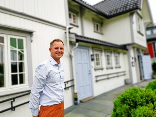 MÅ PÅ BANEN: Vebjørn Aarflot, daglig leder på Gamle Tårnhuset, håper Citycon nå kjenner sin besøkelsestid.