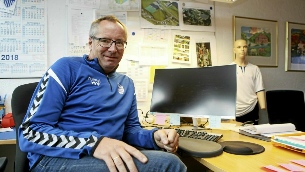 PERMITTERER: Daglig leder Harald Vaadal gikk ut med pressemelding om permitteringer i idrettsklubben tirsdag kveld.