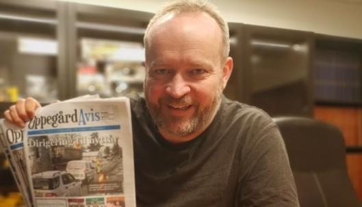 SKAL TILBAKE: Sigbjørn Vedeld er redaktør i Oppegård Avis.