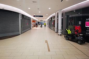 Elleve butikker har stengt på senteret