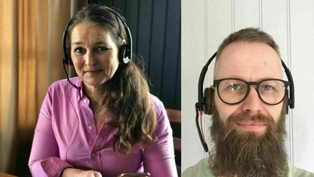 SAMTALER: , Linn Dale og Jarle Einarsen er to av terapeutene i psyskisk helseteam som er klare til å ta imot henvenvelser til rask psykisk helsehjelp i Nordre Follo.