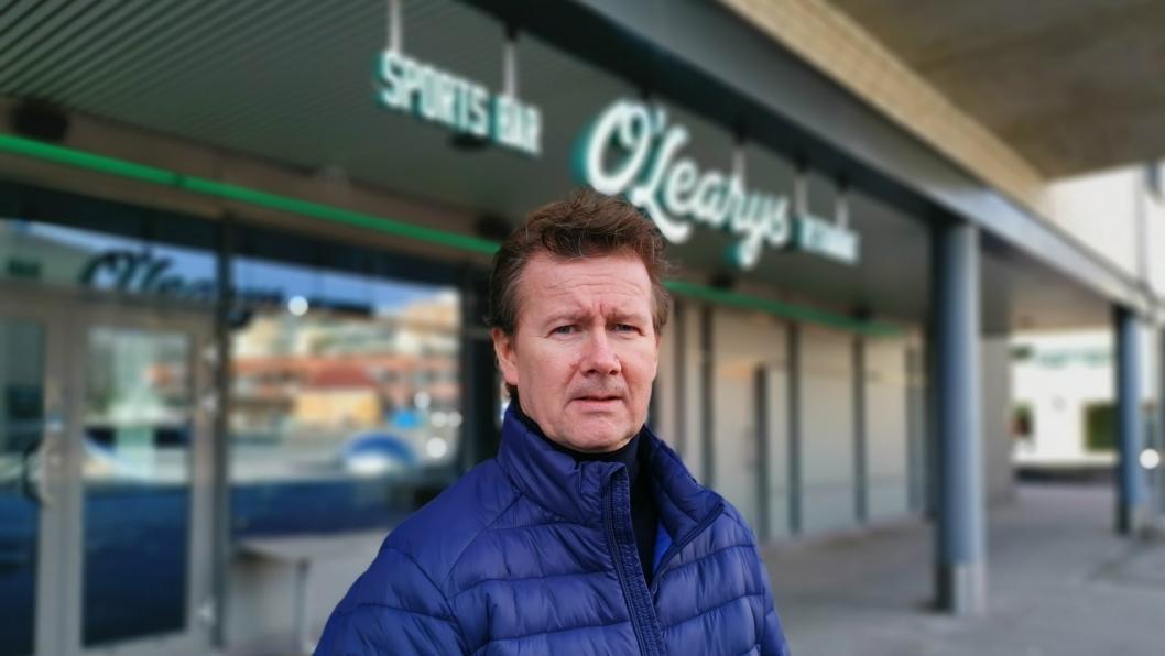 HÅPER PÅ LØSNING: Geir Sjøvold åpner O'Learys i helgen i et forsøk på hente inn inntekter. Restauranten er hardt rammet av koronakrisen.