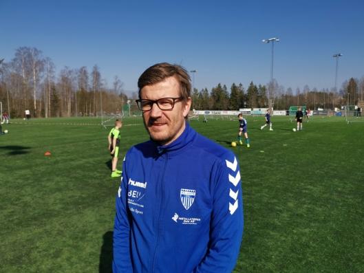FUNGERER FINT: Trener Morten Keiserud synes den nye ordningen fungerer fint.