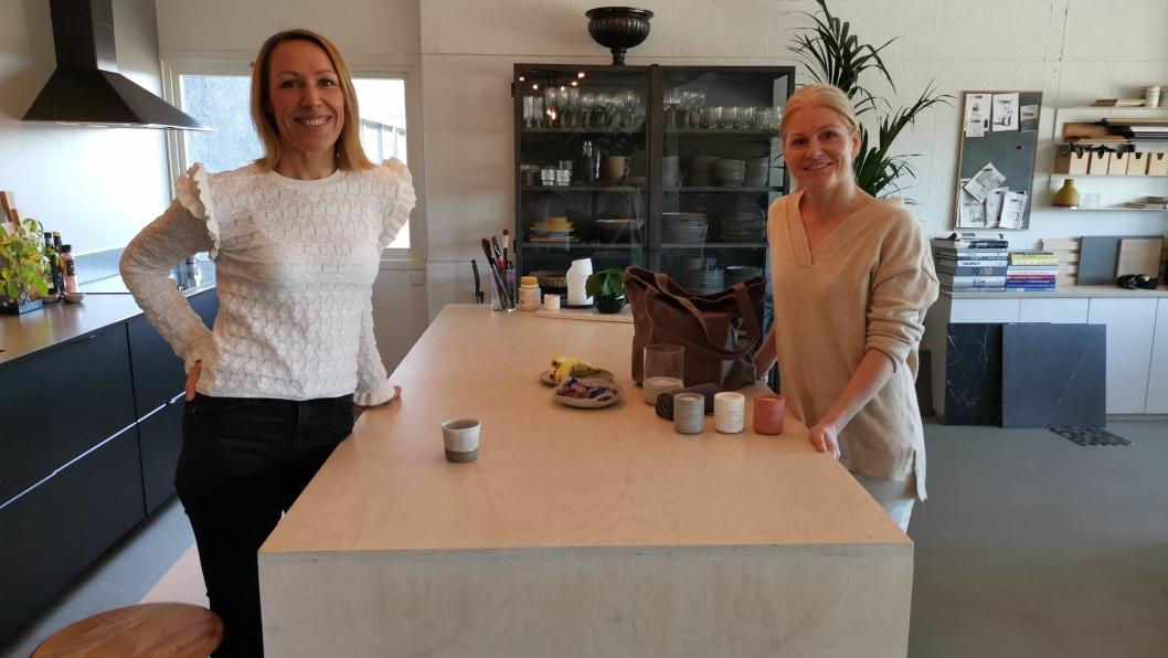 TENKER POSITIVT: Nettan Dahlqvist (t.v.) og Camilla Kolbræk fikk nærmest total stans da koronakrisen lammet bedriftene deres.