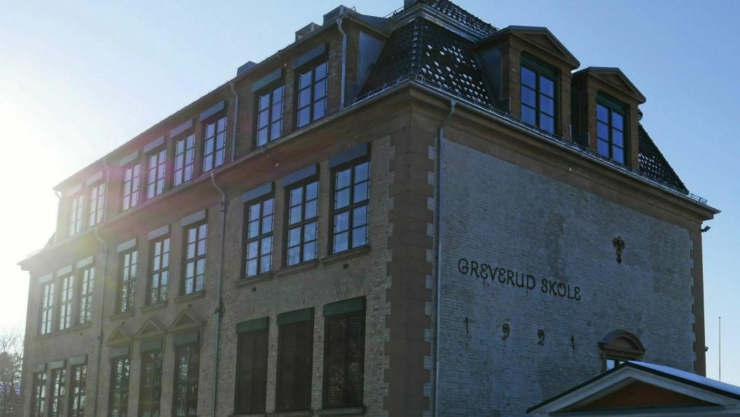 STENGT: Skolene i Nordre Follo, som her på Greverud, vil fortsatt være stengt etter påske. Småskolen fra 1-4. trinn vil gjenåpnes 27. april.