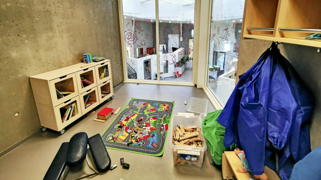 ÅPNER SNART: Snart åpner barnehagene igjen. Dette bildet er fra nye Greverudlia barnehage.