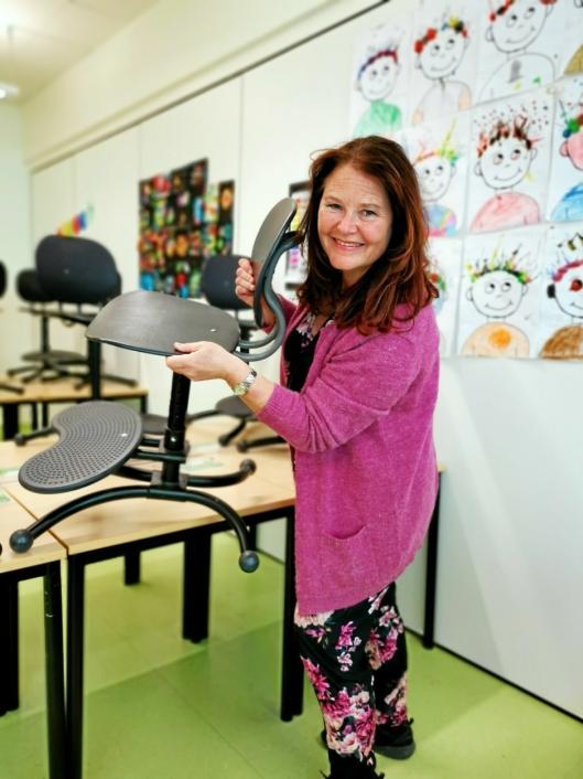 SKOLESTART: – Her på Tårnåsen rår det stor positivtet, og det er jeg sikker på at det gjør også ved de andre skolene i Nordre Follo, sier Nina Kristin Sæthre.