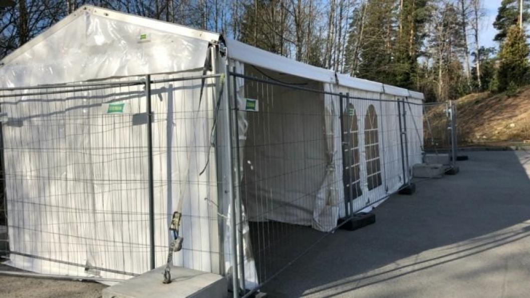 HER SKAL ALLE TESTES: Fra mandag 27. april vil all testing av Covid-19 i Nordre Follo foregå ved Langhus bo – og servicesenter på Langhus, men husk at alle tester gjennomføres etter avtale.