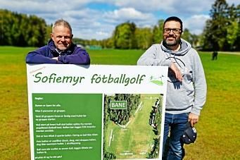 Lagde fotballgolfbane på dugnad – nå brukes den av over 1000 personer i uken