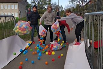 Skolekorpset forbereder 17. mai-fest med ballrace