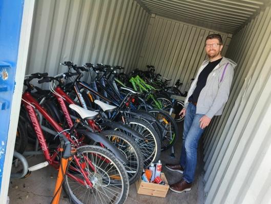 25 SYKLER: BUA Oppegård har 25 sykler hvorav to elsykler.
