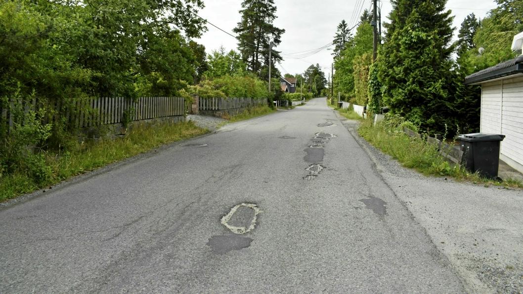 HVILKE TILTAK BØR PRIORITERES? Dette bildet ble tatt i Fjellveien ved en tidligere anledning, og er brukt i denne saken kun som et illustrasjonsbilde.