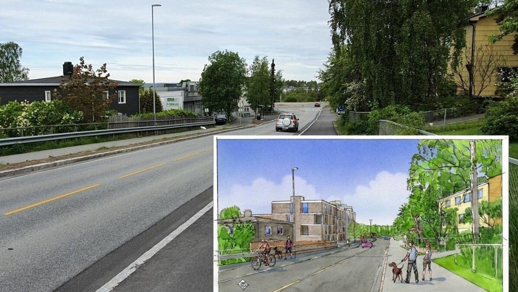 FRA TANNLEGER TIL BOLIGER: Om halvannet år skal tannlegesenteret flytte ut av Sønsterudveien 2. Bygget skal rives. Det skal etterpå bygges 50 leiligheter på stedet.
