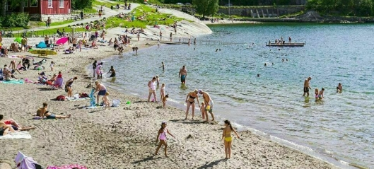 Fraråder bading på Hvervenbukta grunnet kloakkutslipp