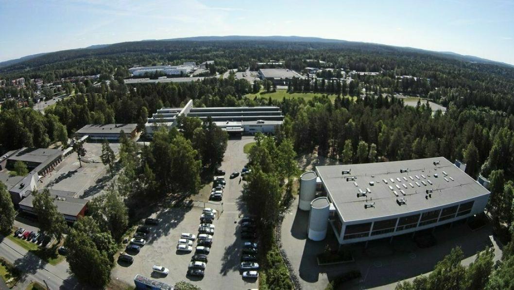 SKOLEKABALEN: Nåværende Sofiemyr barneskole (til venstre på bildet) skulle rives og eiendommen skulle selges for boligutvikling. Nåværende Fløysbonn ungdomsskole (til høyre på bildet) skulle rives og det skulle bygges en ny ungdomsskole nord for den.