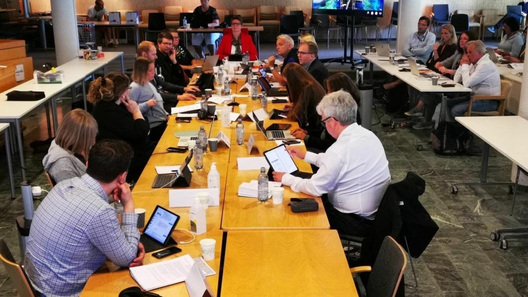 HELDAGSMØTE: Formannskapet har heldagsmøte i kommunestyresalen på Kolbotn. Saken om behovsplanen kom opp som en av de første saken.