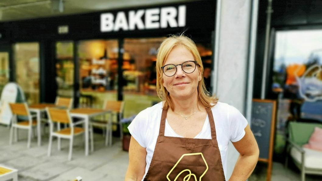 ÅPNET DØRENE: Birgitta Nordby er glad for endelig å være i gang på Myrvoll, to måneder forsinket på grunn av Covid-19.
