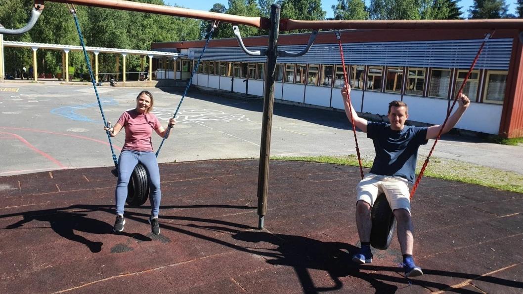 FORNØYDE MED LØSNINGEN: Utvalgleder Camilla Hille (V) og Håkon Heløe (Ap) er fornøyde med løsningen for Sofiemyr skole.