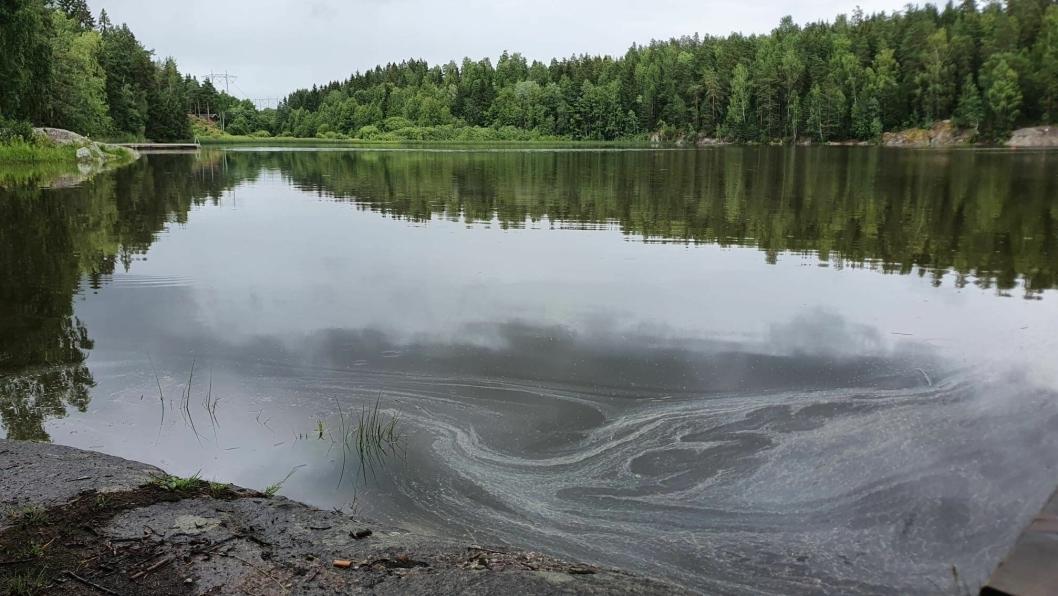 350 LITER HYDRAULIKKOLJE: Ifølge påleggsbrevet fra Kystverket er omfanget av oljeutslippet mye større enn det som var antydet tidligere. Kystverket skriver at utslippet er på 350 liter, og det står ikke noe om at hydraulikkoljen var utvannet da utslippet skjedde.