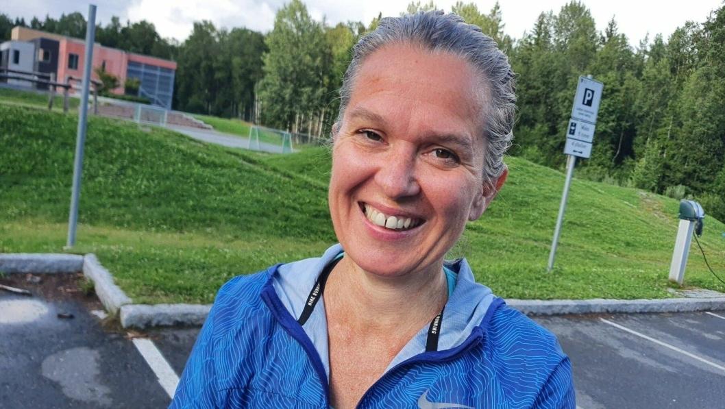 SETTER STOR PRIS PÅ LOKALT LØP: Ann-Magrit Eide (46) fra Tårnåsen er en av dem som løper daglig og setter stor pris på det lokale arrangementet.