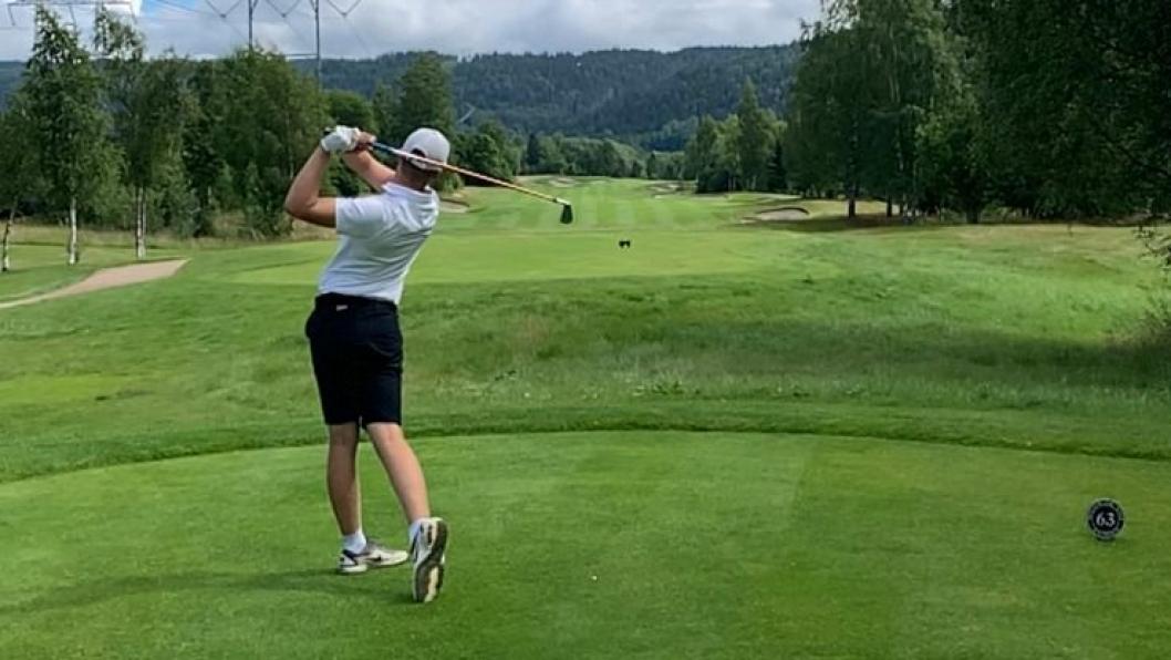 Rune Bøkeid imponerte med en 8. plass i golf-NM i helgen.