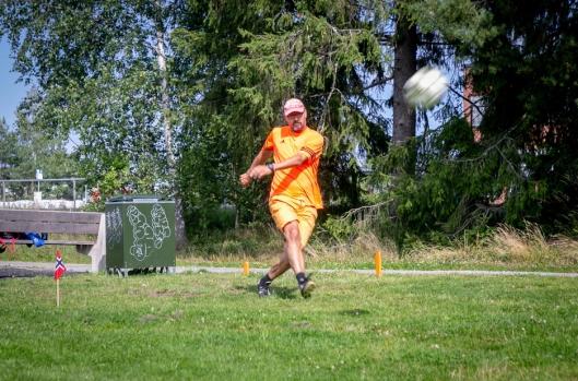 STJERNE: Tore Lia er en ivrig fotballgolfer og vant både i lagkonkurransen og den individuelle konkurransen.