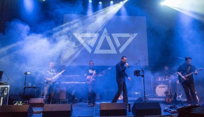 KONSERT I KOLBEN: Bildet ble tatt under konserten i 2016. Fra venstre til høyre: Stian Dahl, David van Dort, Rick André Holmen, Ole Martin Svendsen og Simen Hanssen.  Foto: Kerstin Dahl