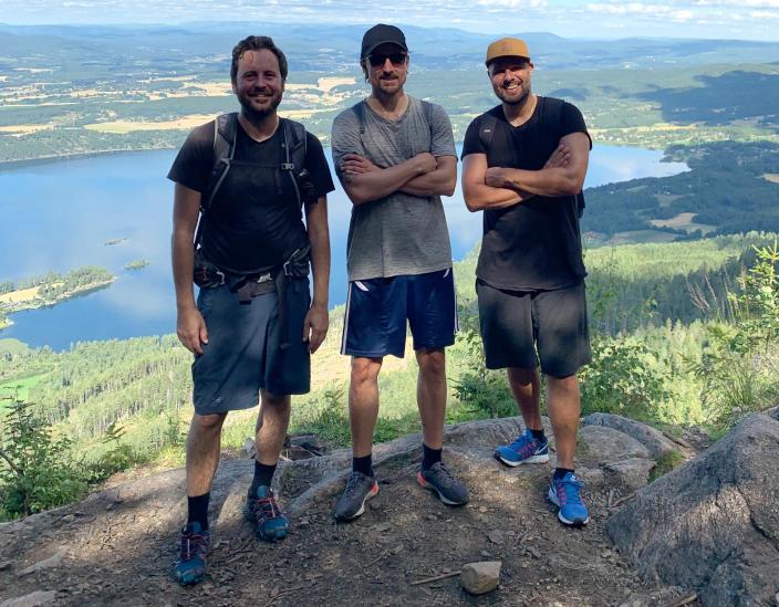 KREATIV TRIO: På bildet kan du se Thomas Hegge, Håvard Bergersen og Rashid Akrim. Foto: Privat