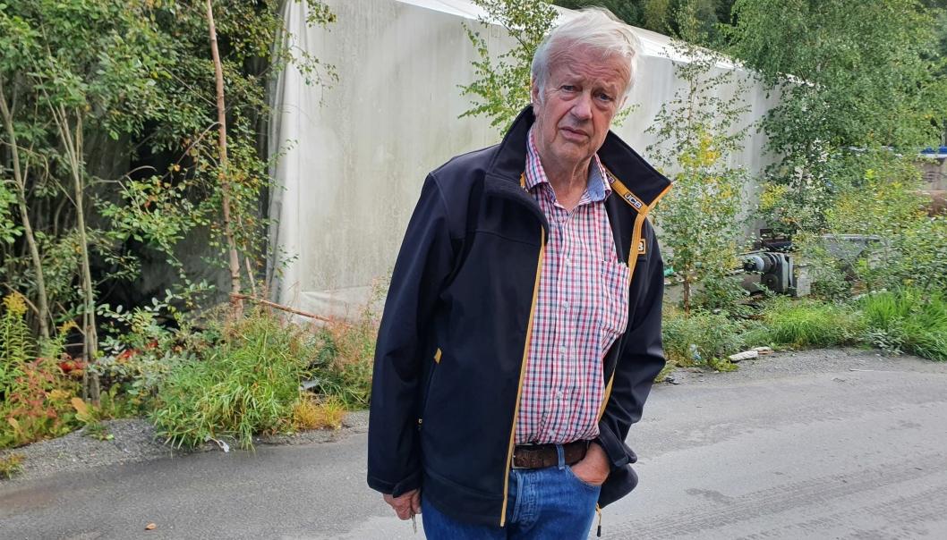 FAMILIEBEDRIFT: Det var faren til Bjørn Arvid Prytz (75), som startet Regnbuen Gjenvinning i 1937. Senere ble selskapet overtatt av 75-åringen fra Kråkstad og hans bror. Foto: Yana Stubberudlien