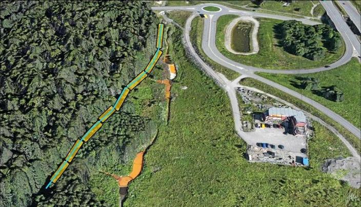 SKAL LEGGES I RØR: Alle de tre alternativene forutsetter at Snipetjernsbekken legges i rør og isoleres forbi tiltaksområdet. Foto: Norconsult